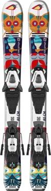 Горные лыжи Salomon T1 XS + крепления C5 GW